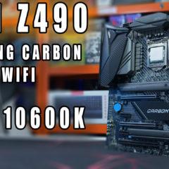 MSI Z490 Gaming Carbon WiFi test płyty głównej z Intel i5-10600K