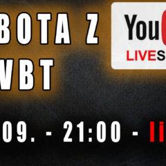 Sobota z VBT – Q&A – Live – 26.09 od 21:00
