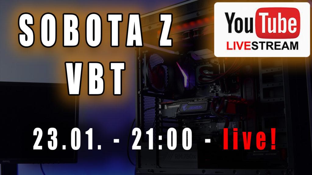 Zapraszam w sobotę - 23 Stycznia o 21:00 na live. Odpowiem na Wasze pytania dotyczące sprzętu komputerowego i na większość innych również :) https://youtu.be/qehhOZF05rY #live #vbt #videoblogtech #techtalk